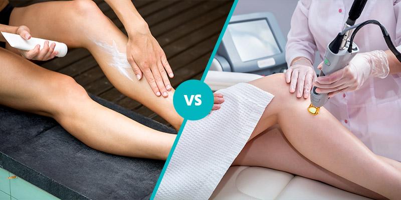 hair removal creams vs laser hair removal