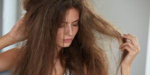 chemically damaged hair