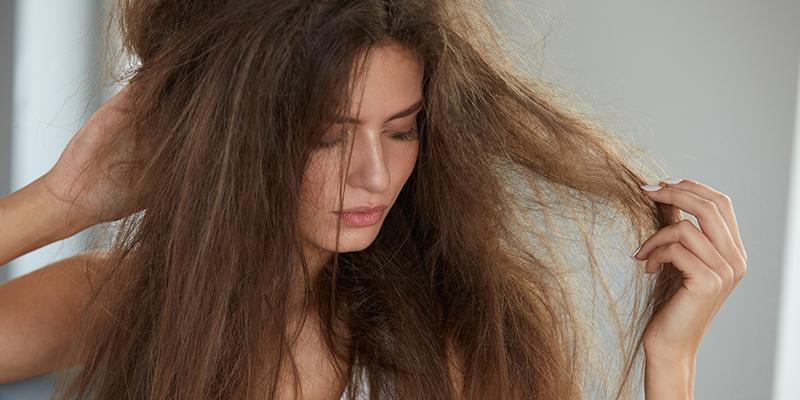chemically damaged hair