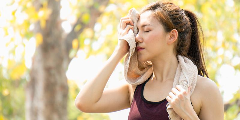 sweat and hair loss