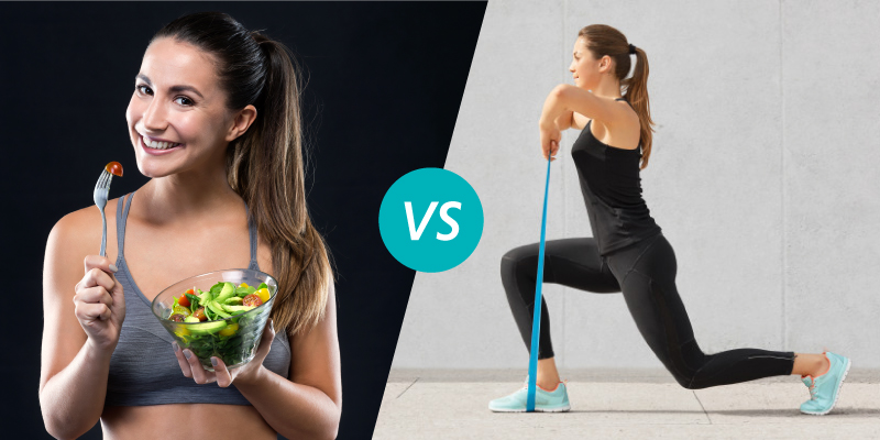 Diet Vs Exercise: The More Effective Weight Loss Method!