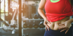 Reduce Belly Fat(Women shows belly fat at Gym)